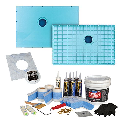 "60%OFF Transolid K7132C-PRE-ORB 70-7/8"" x 32-1/4"" TrueDEK Classic Shower Base Kit with Premium Waterproofing Kit and Drain, Oil Rubbed Bronze"