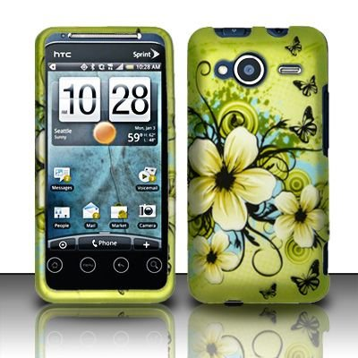 Cell Phone Case Cover Skin for HTC Evo Shift 4G (Hawaiian Flowers) - Sprint