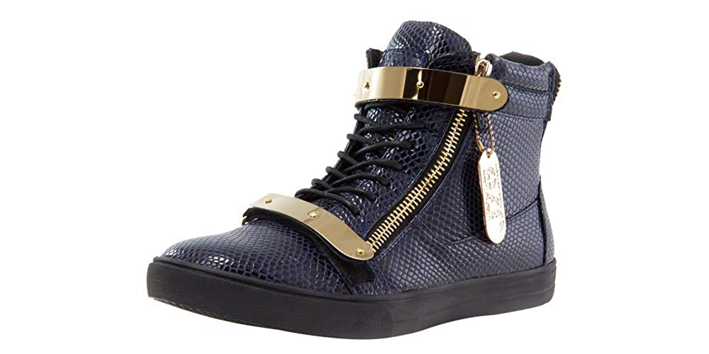 Navy-stamp-patent JUMP Mens Zion Sneaker