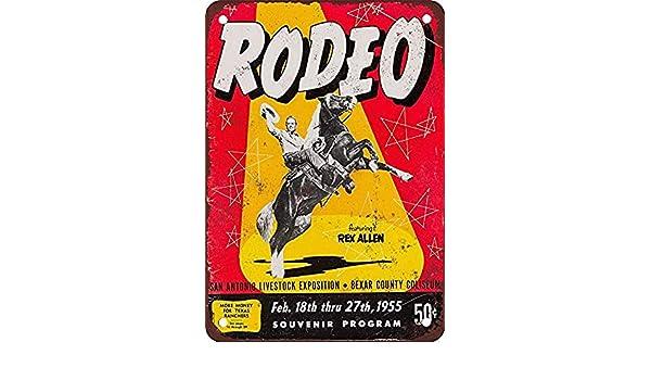 Toddrick Rex Allen Rodeo - Cartel de hojalata de Estilo Retro para ...