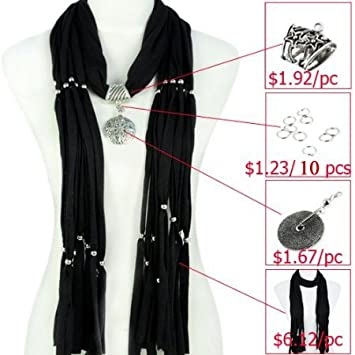 Amazon scarf accessories diy scarf make jewelry scarf scarf accessories diy scarf make jewelry scarf yourself different pendant colors available solutioingenieria Images