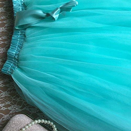 Genou Jupons 6 Tulle Tutu Femmes Fuschia Couches Facent Longueur 65cm q1g18X