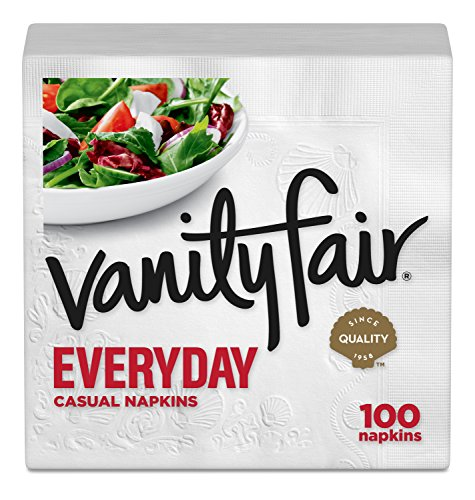Vanity Fair Everyday Napkins, 100 Count Paper Napkins (Packaging Design May Vary)