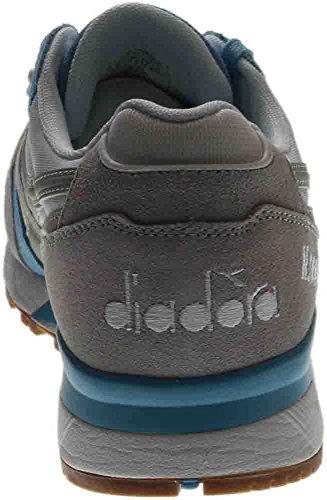 Diadora N9000 Hombres Punta Redonda Zapatillas Sintéticas Azules Blue Grotto / Lunar Rock