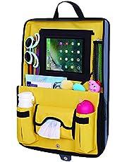 Parenthings integrar closable coche asiento trasero Organizador. Diseño único con soporte extraíble para tablet y 12 compartimentos. Gran accesorio de viaje para niños.