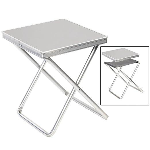 Bocamp Holland Alu Hocker Mit Mdf Tischplatte Tablett 40x40x46cm