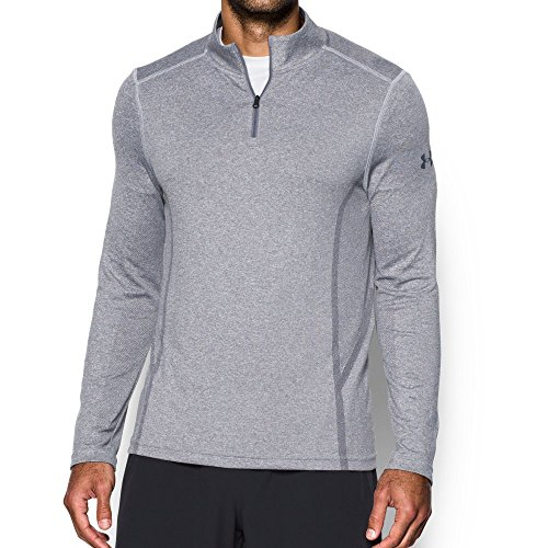 Under Armour Men's Elevated Training 1/4 Zip, Air Force Gray Heath/Black, Large