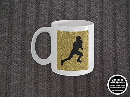 Taza de futbolín dorada y negra para amante del fútbol, idea de regalo, taza de café de fútbol para jugador de fútbol, dorado, negro, regalo del día del padre: Amazon.es: Hogar