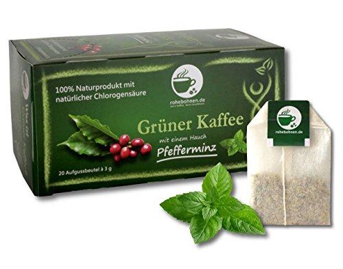 Grüner Kaffee mit einem Hauch Pfefferminze Portionsbeutel (20x3g)