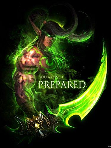 World of Warcraft Character Illidan Stormrage Fan Art 24x32 Poster Print