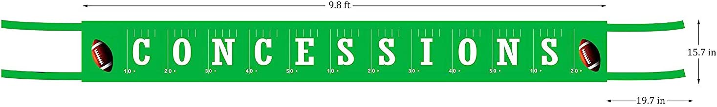 Football Baby Shower Sports Party Decorations Large Football Concessions Banner Football theme party banner Football Happy Birthday Bunting Banner