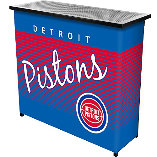 NBA Detroit Pistons Portable Bar with Case, One Size, Black Detroit Pistons Table