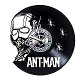 Ant Man - Marvel Legends - Action Figure - Comics Band – Movie - Handmade Vinyl Record Wall Clock - Get unique garage wall art décor - Gift ideas for men, father, boyfriend – Unique comics art design