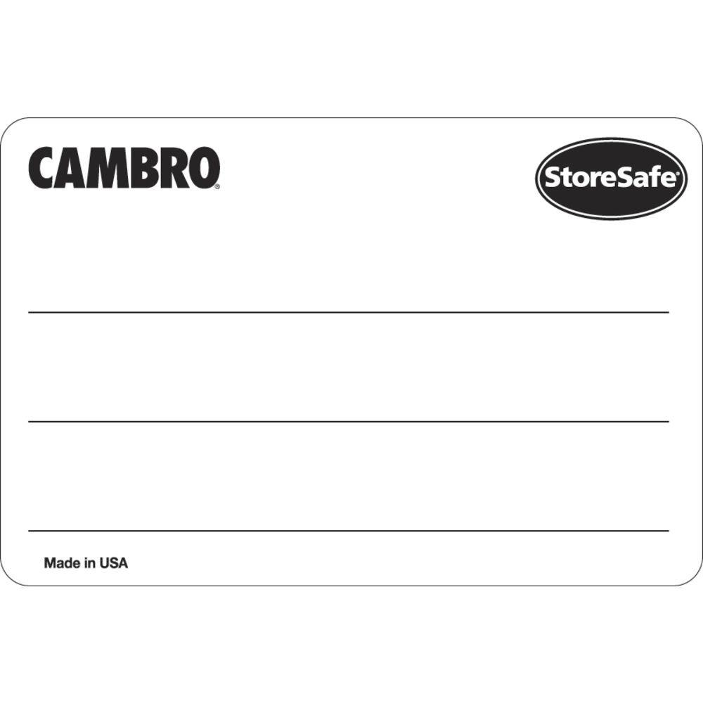 Cambro StoreSafe Rectangular Blank Food Rotation Labels - 3