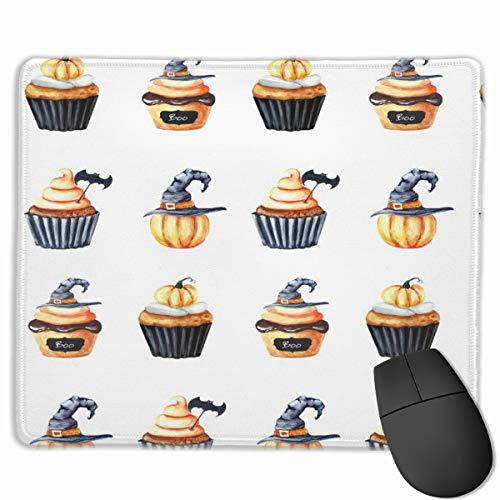 Halloween Cupcake Doodles_67799 Mouse pad Custom Gaming Mousepad Nonslip Rubber Backing -