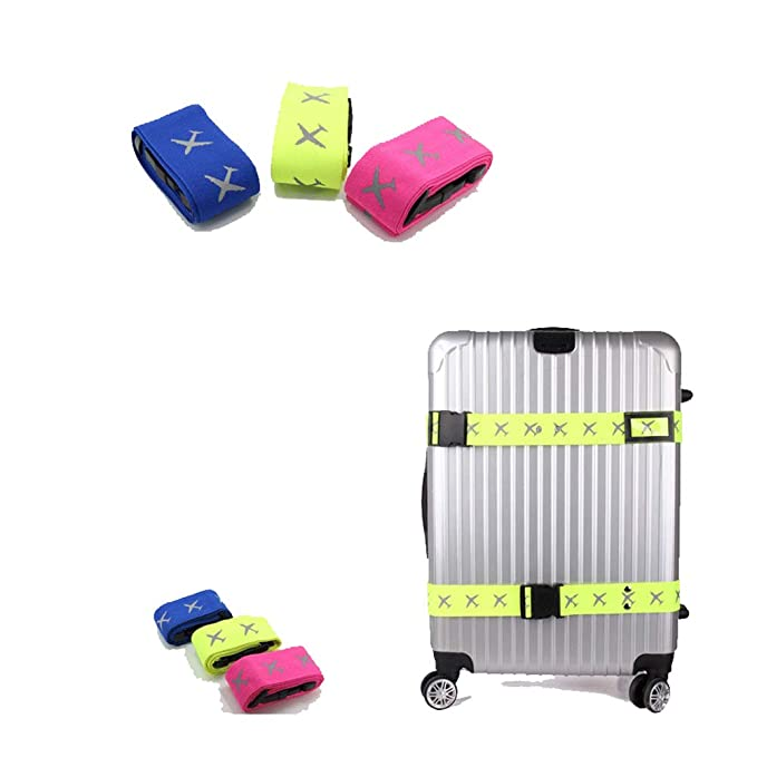 a49b2ad09574 Amazon.com: VORCOOL 2pcs Adjustable Cross Travel Luggage Strap ...