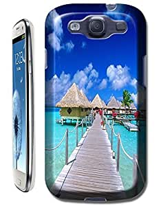 Beautiful Beach Sunshine Sea Water Clean White Cloud Design For Samsung Galaxy S3 i9300 No.17