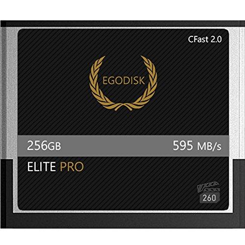 EgoDisk Elite PRO 256GB CFast 2.0 Card-(BLACKMAGIC URSA Mini | BMPCC Pocket | 4K • 4.6K | Canon • XC10 • XC15 • 1DX MARKII • C200 • C300 | - Motion Camera Slow Phantom