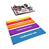 x factor door gym - Extra Thick Exercise Resistance Bands - Set of 2 or 5 Loop Booty Bands with Guide - Fitness Workout by The X Bands - 15 to 125 lb - Best for Stretching, Yoga, Legs Training, Physical Therapy