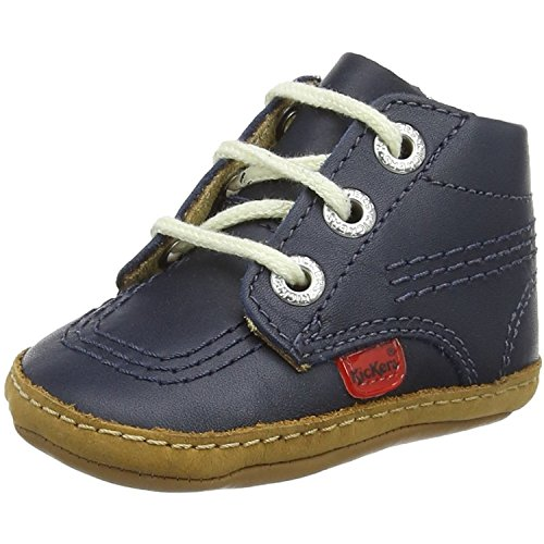 Kickers 1st Kicks B Navy Leather 19 EU/4 M US Infant - Kickers Childrens Shoes