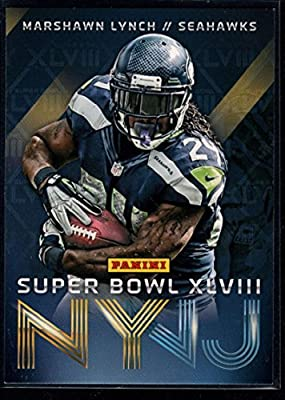Football NFL 2014 Panini Seattle Seahawks Super Bowl XLVIII Champions #2 Marshawn Lynch Seahawks