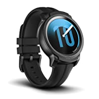Ticwatch Smart Watch TicWatch E2, Wear OS by Google Fitness smartwatch, 5 ATM Waterproof and Swim-Ready, Compatible with iPhone and Android- Shadow