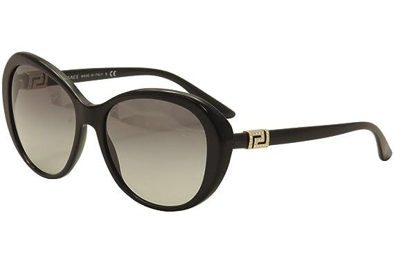 Amazon.com: Versace 4324B GB1/11 Black 4324B Round ...