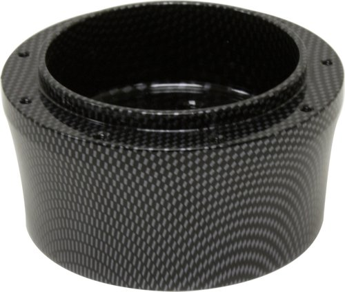 1967-94 CHEVY/GM SMOOTH CARBON HYDROGRAPHIC ALUMINUM STEERING WHEEL ADAPTER - 9 HOLE
