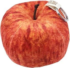 Glovion Fruit Stress Toy, Cute Stuffed Plush Toys, Vivid Soft Plush Toys for Home Decor Vivid Apple Shape 3.8''in