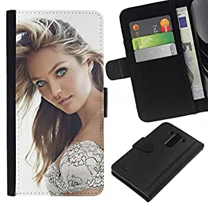 NEECELL GIFT forCITY // Billetera de cuero Caso Cubierta de protección Carcasa / Leather Wallet Case for LG G3 // Sexy Girl Beauty