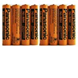 Electronics : 8 Pack Panasonic NiMH AAA Rechargeable Battery for Cordless Phones