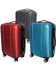 c19b77c3acf Maleta Avión Equipaje de Mano Viaje Cabina Trolley ABS Rígida 4 Ruedas  55x36x23