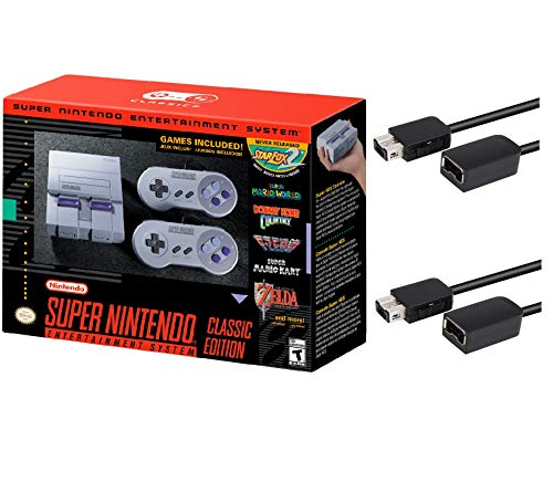 Nintendo Super Entertainment System SNES Classic Edition with Two 6-ft. Extension Cable (Super Nintendo Flashback)