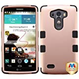 LG G3 Case, Mybat Tuff Dual Layer [Shock Absorbing] Protection Hybrid Rubberized Hard PC/Silicone Case Cover For LG G3, Rose Gold/Black