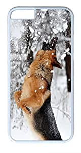 German Shepherd Plays With Snow Custom iPhone 6 4.7inch Cases Cover Polycarbonate White