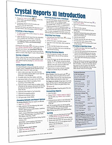 crystal reports xi quick reference guide introduction cheat sheet rh binge bh Quick Reference Guide Design Templates Quick Reference Guide Icon