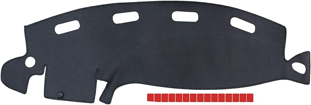 NewYall Black Dashboard Cover Dash Mat Pad Dashmat