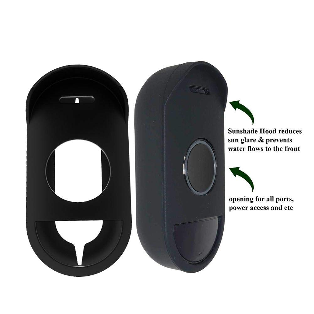Weatherproof UV-Resistant Perfect Compact Case IMSHI Ring Doorbell Protective Cover Silicone Skin for Arlo Audio Doorbell