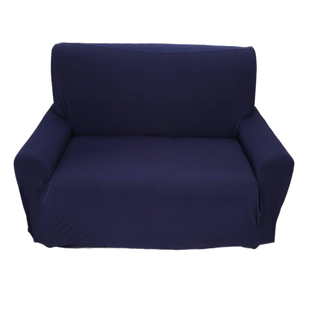 Copridivano a 2 Posti Lounge, Tratto Pieno Fodera Elastico, 7 Colori Solidi Opzione ( Colore : Deep Blue ) Yosoo