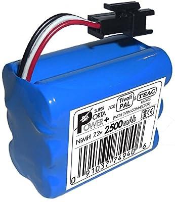 2500mAh XTRA-Hi-Capacity Battery Pack for Tivoli PAL (MA-4 3-pin) and TEAC Portable Radios from PowerPAL