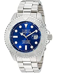 Invicta Mens Pro Diver Quartz Stainless Steel Diving Watch, Color:Silver-Toned (Model: 24623)