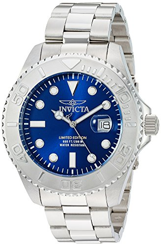 Invicta Men s Pro Diver Quartz Diving Watch with Stainless-Steel Strap, Silver, 9 Model 24623