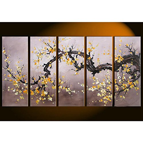 【Amazon.co.jp 限定】 東京アートラボ 和モダン オリエンタルアート【梅 桜 桃】 5枚組 W1000mm 絵画 日本 B01JB6E1ZS