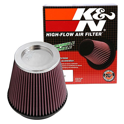 K&N RF-1042XD Universal Clamp-On Air Filter: Round Tapered; 6 in (152 mm) Flange ID; 6.5 in (165 mm) Height; 7.5 in (191 mm) Base; 5 in (127 mm) Top