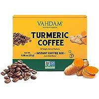 VAHDAM, Mezcla de cúrcuma + súper elixir de café - 10 porciones | Mezcla de café instantáneo con cúrcuma | Dieta…