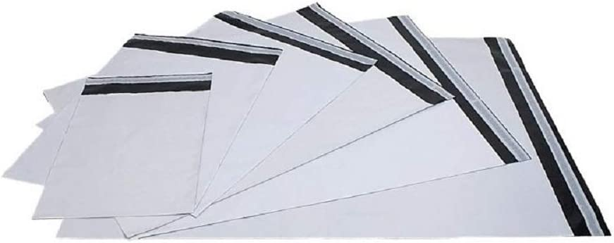 100 x White MAILING Bags Plastic Strong Packaging Postal Polythene Grey Bag Mail Bags 16 x 22 inch = 400 x 500 mm = 40 x 50 cm