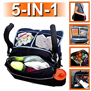 Rumbi Baby All-in-One Stroller Bag Converts to Car Organizer or Shoulder on the Go
