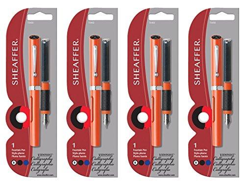 Sheaffer Viewpoint Calligraphy Pen Orange Broad NIB 4-PACK (73402) by SHEAFFER