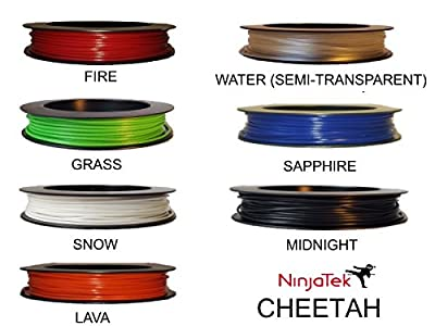 NinjaTek CHEETAH Flexible Filament TPU 1.75MM 50g Splash Spool