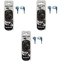 Panasonic ErgoFit In-Ear Earbud Headphones - 3 Pack (Blue)